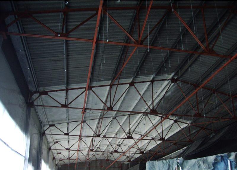 cubierta interior nave PUR